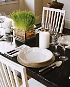 Laid table