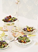 Edible flower salads