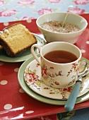 Tea and a slice of cake