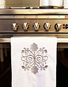 Gas cooker and tea towel