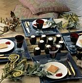 Arrangierte Platten mit Pasteten