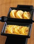 Orange gratin with almonds