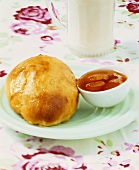 Milk roll with jam
