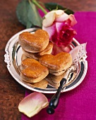 Heart-shaped spelt scones