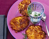 Hamburg parsley and pumpkin rösti