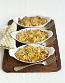Fennel and butter bean gratin with almonds