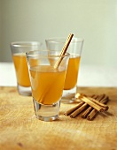 Hot apple toddy (Drink made with apple brandy, rum, apple juice)