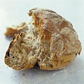 A loaf of bread, broken open