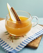 Hot cider with pear and spices