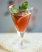 Prosecco cocktail with fruit