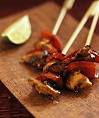 Yakitori (Chicken and pepper kebabs, Japan)