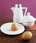 Two hard-boiled eggs for breakfast