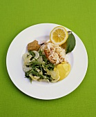 Crab salad with fennel and rocket