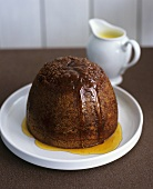 Baked spiced pudding with treacle