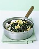 Orecchiette with ricotta and purple broccoli