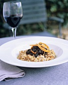 Spelt risotto with morels