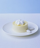 Blancmange with sugared almonds
