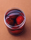 Plums in vodka