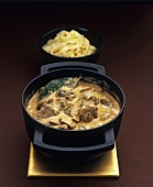 Beef and mushroom ragout with ribbon pasta