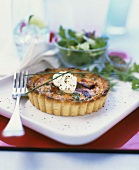 Individual bacon quiche