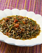 Lentil stew with tomatoes