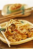 Vegetable tempura with papaya dip (Japan)