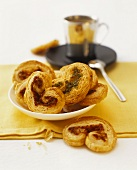 Palmiers with pesto filling