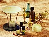 Duftlampe, Aromaöle in Fläschchen, Flakons & Creme