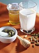 Cardamom milk to combat digestive and gastro-intestinal problems