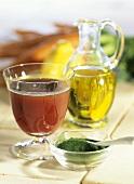 Vitamin-Powerdrink mit Obst, Gemüse, Öl & Chlorellapulver
