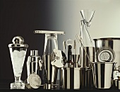 Various bar utensils