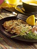 Potato rösti with salmon