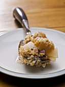 Apple, pineapple and chocolate crumble