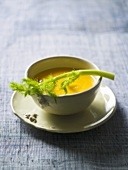 Pumpkin and apple soup with fennel