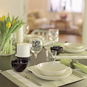 Stylishly laid table