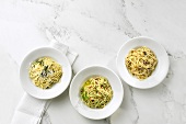 Three quick pasta dishes
