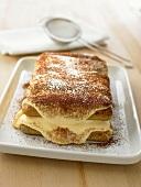 Tiramisù (layered dessert made with mascarpone), Lazio, Italy
