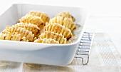 Oven-roasted fan potatoes