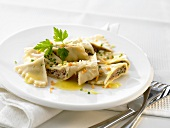 Salad of pasta envelopes