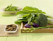Still life with Asian vegetables and tamarinds