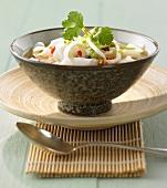 Thai-style rice noodle soup