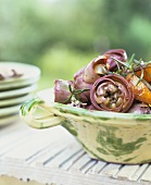 Artichoke and orange salad with rosemary