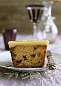 Fruit cake with nuts and orange & ginger butter