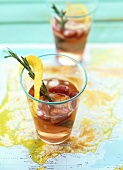 White Sangria (White wine punch with strawberries & Licor 43)