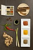 Arrangement of various spices