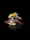 Various types of chocolate shavings (white, dark etc.)