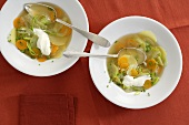Quick potato and vegetable soup