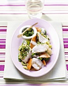 Fish and vegetable ragout with gremolata
