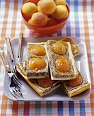 Poppy seed and apricot slices