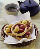 Spicy gooseberry tartlets with garam masala